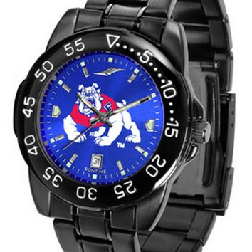 Fresno State Bulldogs Mens Watch Fantom Gunmetal Finish Blue Dial