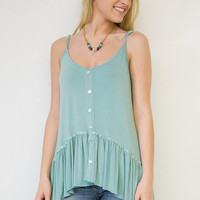 Adjustable Ruffle Hi-Low Tank