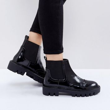 Sixtyseven Cleat Sole Chelsea Flat Boots at asos.com