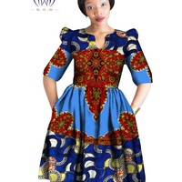 African Traditional Print Dress