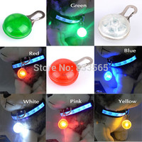 A6 New Chic Pet Dog Cat Puppy LED Flashing Collar Safety Night Light Pendant N0008 P