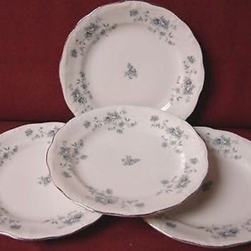 Haviland Johann, Bavaria, White China Dinnerware Blue Garland Set 4 Bread plate