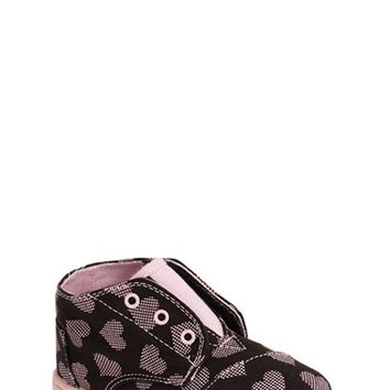 Toddler Girl's TOMS 'Paseo Tiny - Digi Hearts' Mid Bootie