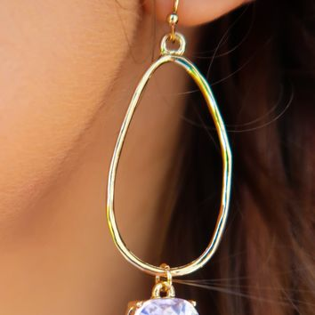 Before You Earrings: Pink/Gold