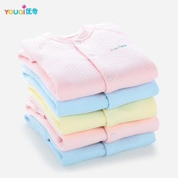YOUQI 2Pcs Winter Unisex Baby Clothes Warm Boys Rompers Girls Clothing Toddler Infant Jumpsuit Spring Outfit Clothes For Babies