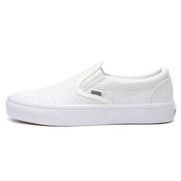 Vans Black/White Classic Canvas Leisure Shoes G-CSXY