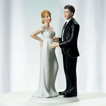 """Expecting"" Bridal Couple Figurine (Pack of 1)"