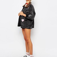 Lazy Oaf | Lazy Oaf Denim Jacket With Patches at ASOS