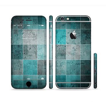 The Dark Teal Tiled Pattern V2 Sectioned Skin Series for the Apple iPhone 6s Plus