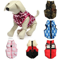 Dog Pet Warm Cotton Padded Vest Jacket Puppy Harness Soft Coat Clothes Apparel = 1929815172