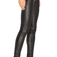 MLML High Waisted Leather Legging in Black | REVOLVE