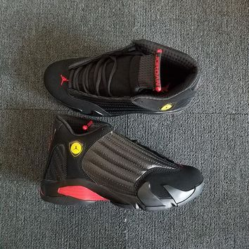 "Air Jordan 14 Retro ""Last Shot"" Black/Varsity Red-Black AJ14 Sneakers - Best Deal Online"