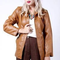 Vintage 70's Ten Leather Coat Jacket