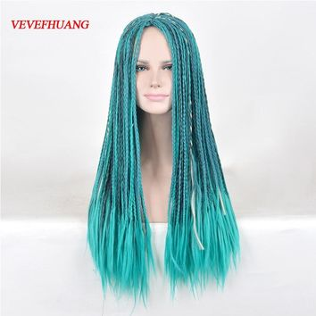 VEVEFHUANG Descendants 2 Uma Cosplay Wig Braided Synthetic Fashion Costume Wigs For Women