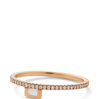 White Diamond Stacking Ring by Monique Péan - Moda Operandi