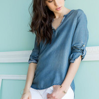 Logan Chambray Blouse