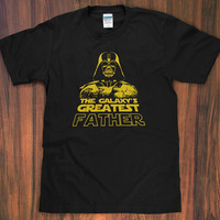 Darth Vader Greatest Father / Dad T-Shirt - best world's galaxy's Star Wars Funny Humor daddy since baby gift S M L XL 2X