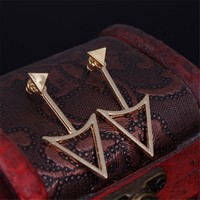 Urbanviva Arrow Triangle Earrings Accessory