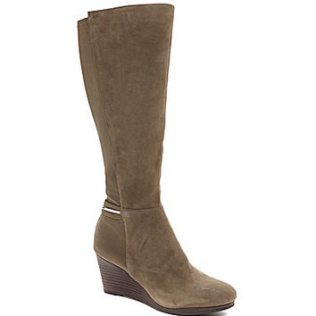 Calvin Klein Olena Wedge Boots - Caribou
