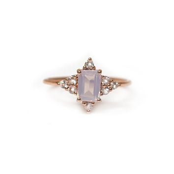 Rose Gold Lilac Quartz Be My Guide Ring