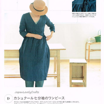 Simple & Natural Style Dress Patterns - Japanese Sewing Book for Women Comfortable Clothing - Naturela  Special, Easy Sewing Tutorial, B1488