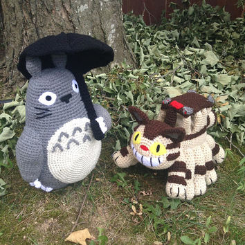 Studio Ghibli Inspired  Catbus and Totoro Amigurumi (Crochet Plu 5df520a687