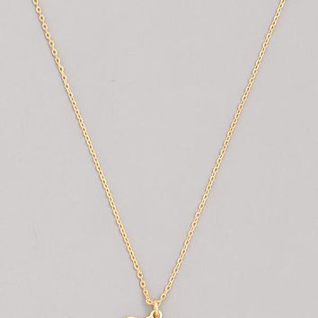Old English Leo Necklace in Gold