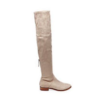 Flat Thigh High Boots in Black & Nude | Steve Madden ODESSA