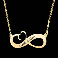 Personalized Infinity Necklace - Custom Infinity Necklace - Infinity Name Necklace - Personalized Name Necklace - Custom Name Necklace - BFF