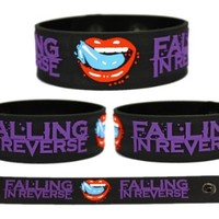 FALLING IN REVERSE Rubber Bracelet Wristband Fashionably Late (1 Pc)