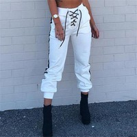 Womens Casual Loose Harem Pant Baggy Hip Hop Dance Sweat Pants