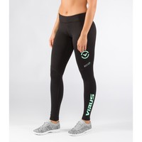Women's Stay Cool Compression Pant (ECo21)-Black/Mint - Compression Fit - //Fit Series - Women's