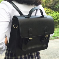 Princess sweet lolita bag Japanese JK uniform bag Lolita soft girl briefcase student Black cross section square bag WW024