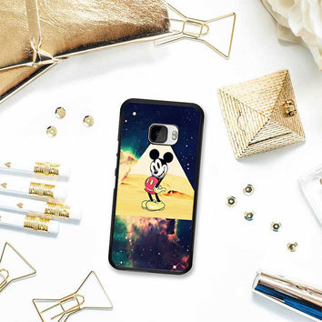 disney Mickey mouse Hipster Triangle Galaxy HTC One M10 Case Planetscase.com
