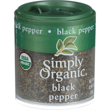 Simply Organic Black Pepper - Organic - Medium Grind - .56 oz - Case of 6