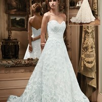 Casablanca Bridal 2127 A Line Lace Wedding Dress