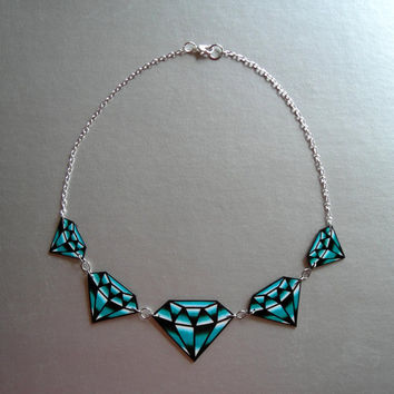 $29.95 Traditional Diamond Tattoo Necklace by theringleader on Etsy