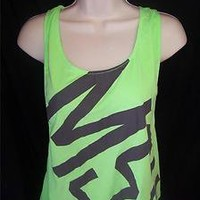 NWT VICTORIA'S SECRET *PINK* MICHIGAN STATE MSU BACKLESS NEON GREEN TANK TOP *M*