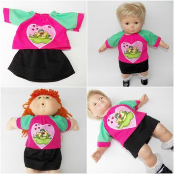 "Cabbage Patch Clothes 16"", boy or girl doll HANDMADE Dark Brown cotton Pants"