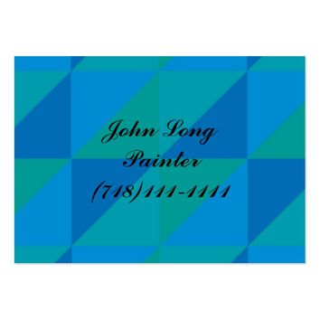 triangle colored abstract large business card