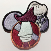 Captain Hook Disney Villain Inspired Embroidered Mouse Ear Patch - Peter Pan
