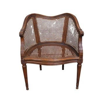 Pre-owned Vintage French Louis XV Caned Chair