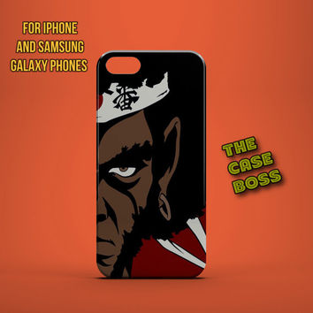 AFRO SAMURAI WAR Design Custom Phone Case for iPhone 6 6 Plus iPhone 5 5s 5c iphone 4 4s Samsung Galaxy S3 S4 S5 Note3 Note4 Fast!