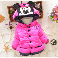 Youth Minnie Mouse Hooded Down Coat
