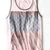 AEO Men's Palm Tree Graphic Tank (Pink)