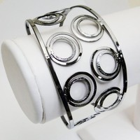 Chic Wrist Upper Arm Bangle Bracelet Armlet - Double Circles Pattern