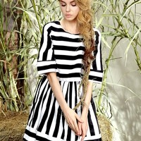 Stripe Latern Dress | Choies