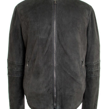 John Varvatos Dark Steel Heather Suede Jacket