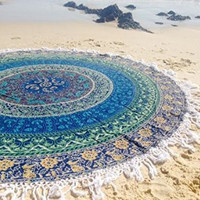 Peacock Tapestry Wall Hanging Indian Circle of Flowers Purple Round Throw Beach Picnic Blanket Round Bed Sheet Roundie Table Cover