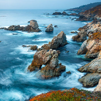 Big Sur Print, California Seascape, Garrapata State Beach, Carmel Coastline, Blue Print, Rocky, Fine Art, Large Canvas, Scenic Landscapes